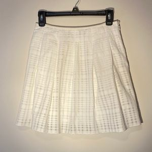 Vince Pleated Skirt Off-White Size 0